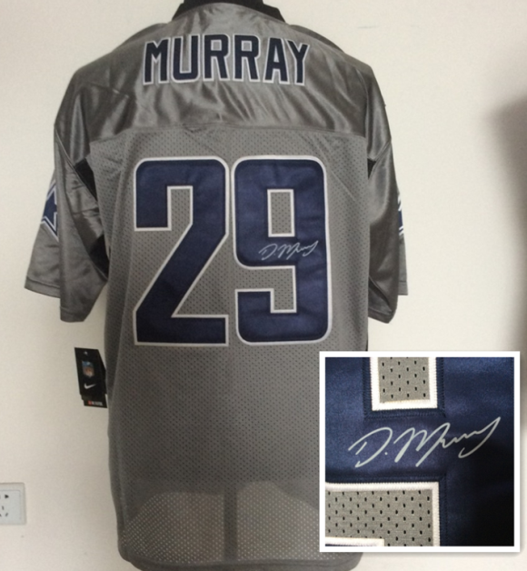 Dallas Cowboys 29 Murray Gray NFL Nike Elite With player signed Jerseys