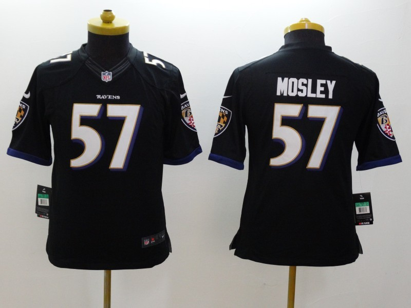 Youth Baltimore Ravens 57 CJ Mosley Black 2014 Nike Limited Jerseys