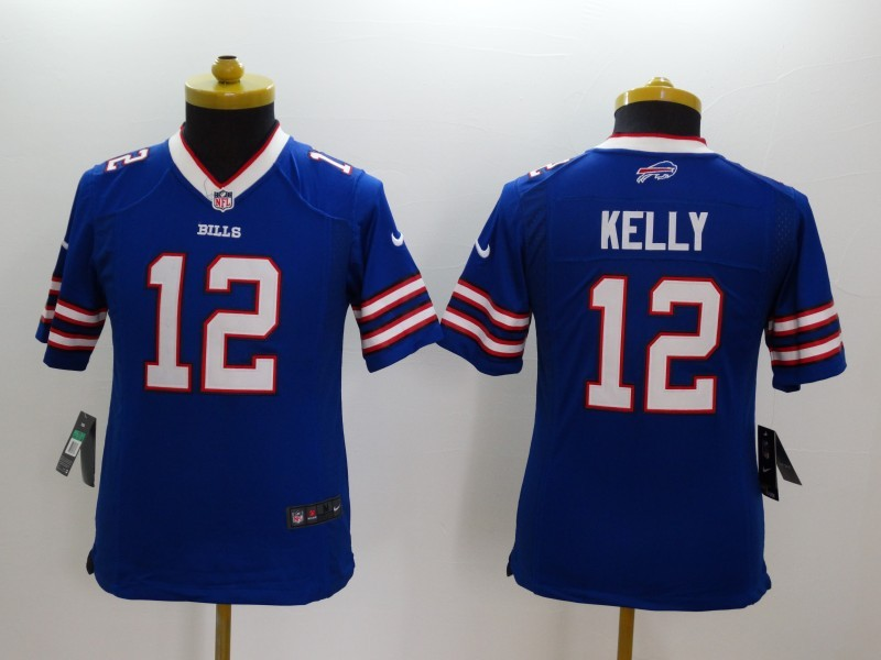 Youth Buffalo Bills 12 Kelly Blue 2014 Nike Limited Jerseys