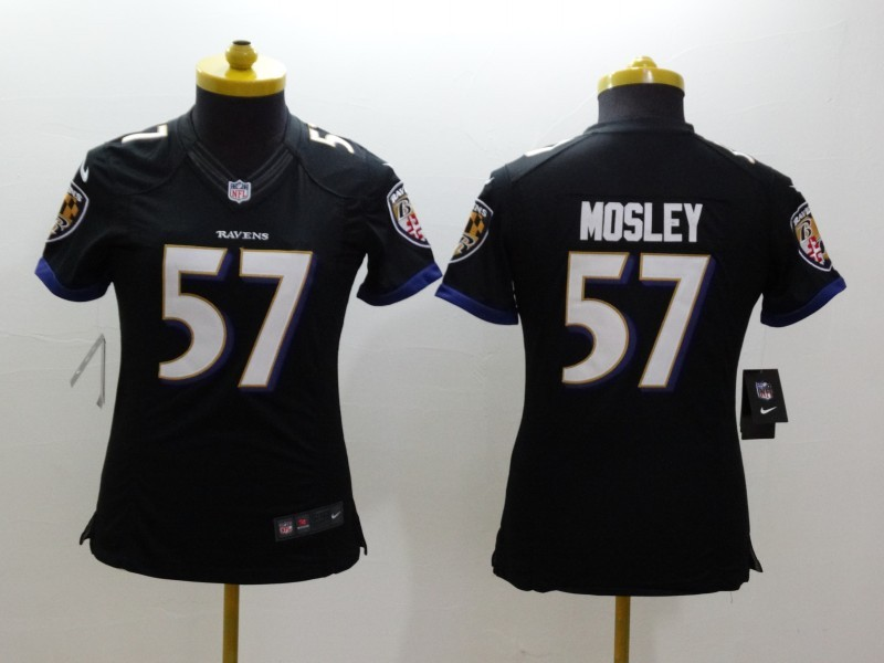 Womens Baltimore Ravens 57 CJ Mosley Black 2014 Nike Limited Jerseys
