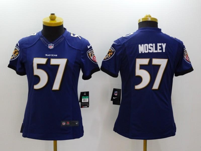 Womens Baltimore Ravens 57 CJ Mosley Purple 2014 Nike Limited Jerseys