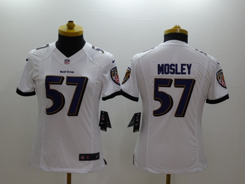 Womens Baltimore Ravens 57 CJ Mosley white 2014 Nike Limited Jerseys