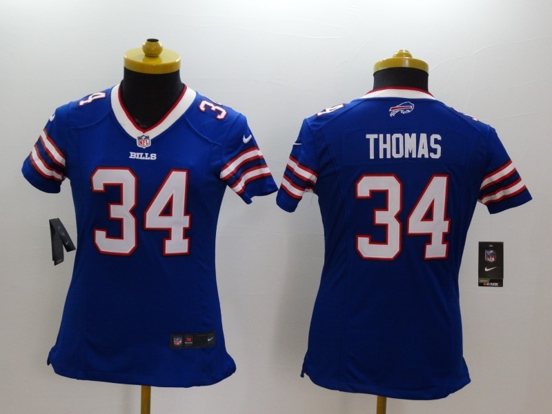 Womens Buffalo Bills 34 Thomas Blue 2014 Nike Limited Jerseys
