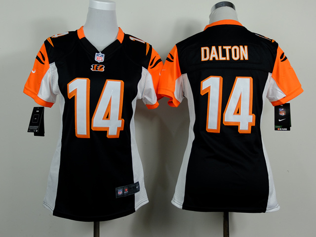 Womens Cincinnati Bengals 14 Andy Dalton Black 2014 Nike Jerseys