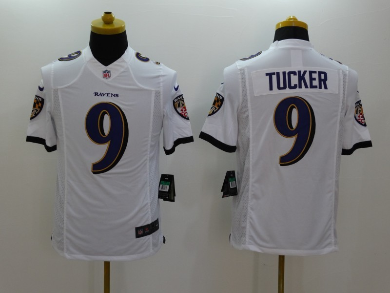 Baltimore Ravens 9 Justin Tucker White 2014 Nike Limited Jerseys