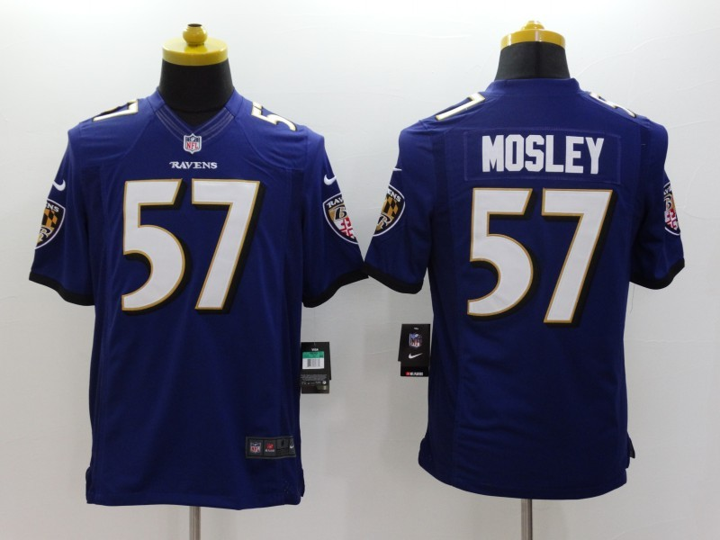 Baltimore Ravens 57 Mosley Blue 2014 Nike Limited Jerseys