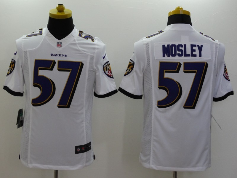 Baltimore Ravens 57 Mosley White 2014 Nike Limited Jerseys