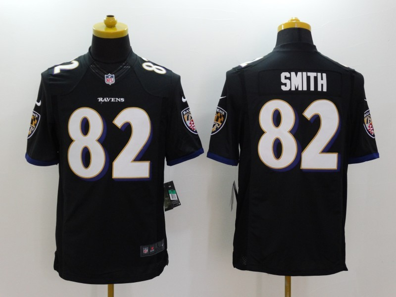 Baltimore Ravens 82 Torrey Smith Black 2014 Nike Limited Jerseys