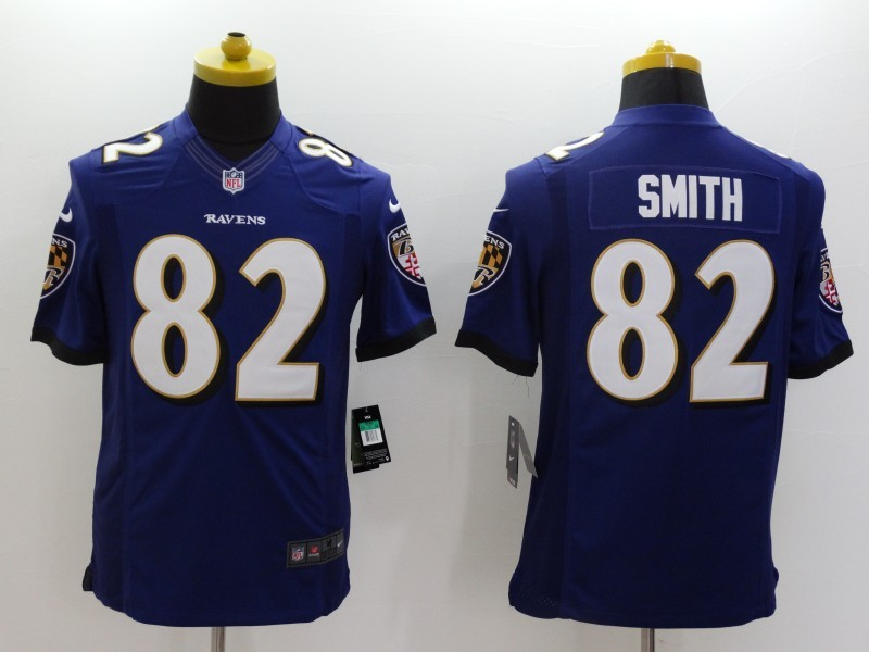 Baltimore Ravens 82 Torrey Smith Purple 2014 Nike Limited Jerseys