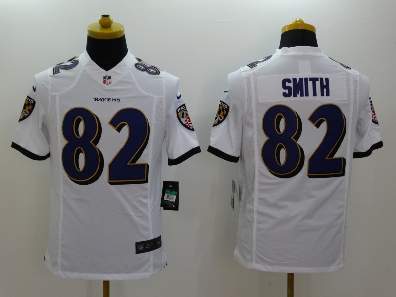 Baltimore Ravens 82 Torrey Smith White 2014 Nike Limited Jerseys