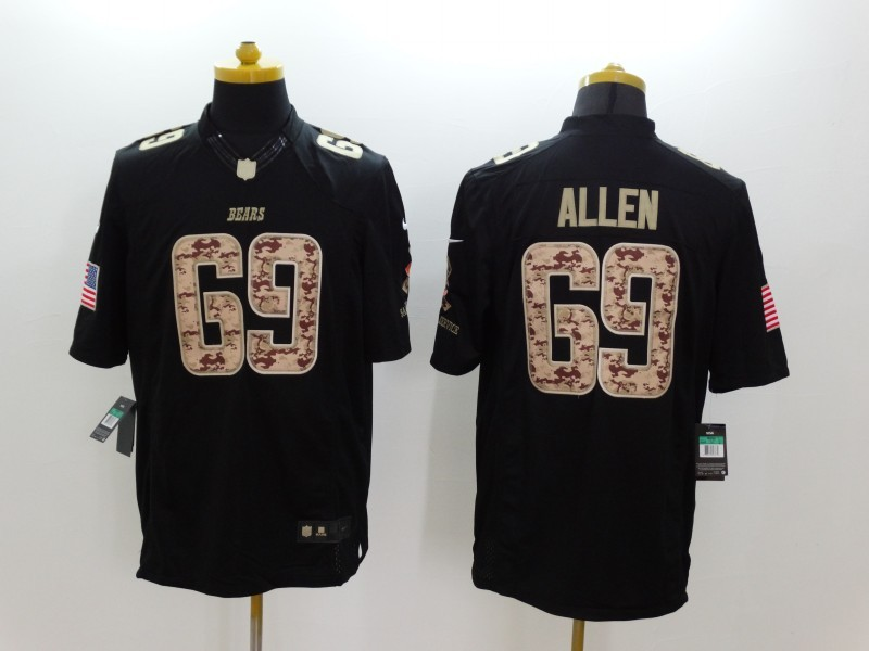 Chicago Bears 69 Allen Black 2014 Nike Salute TO Service Jersey