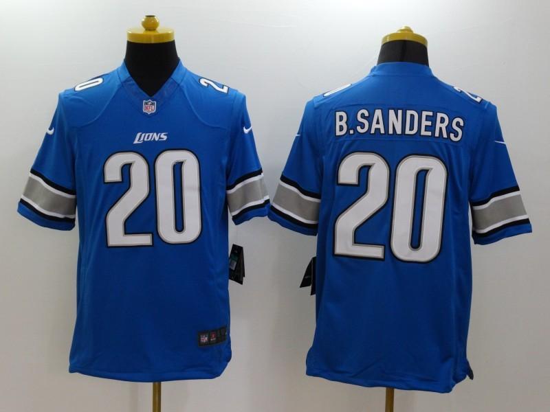 Detroit Lions 20 B.Sanders Blue 2014 Nike Limited Jerseys