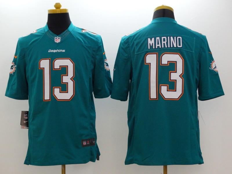 Miami Dolphins 13 Dan Marino Green 2014 Nike Limited Jerseys