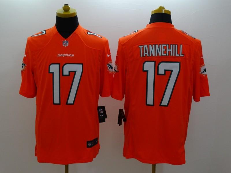 Miami Dolphins 17 Tannehill Orange 2014 Nike Limited Jerseys