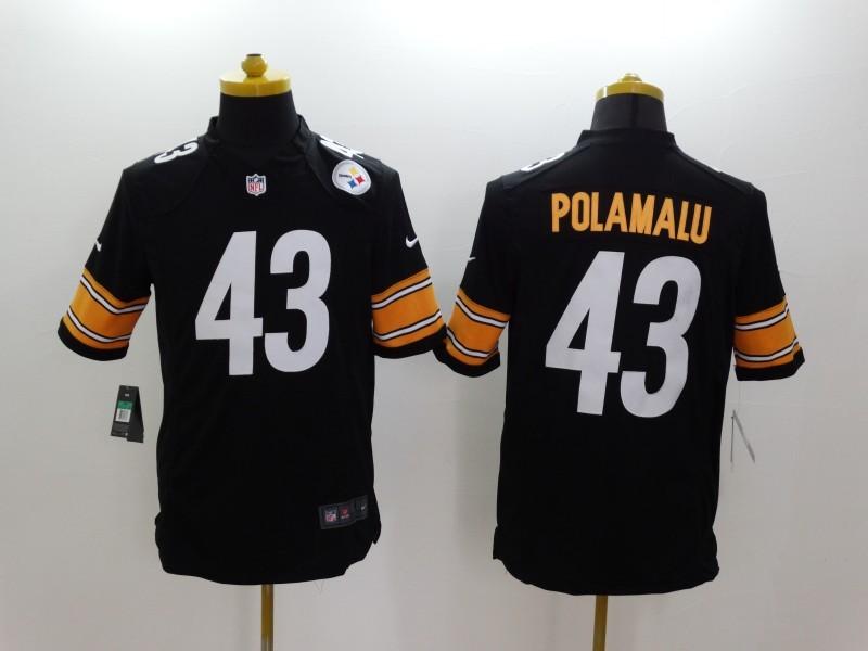 Pittsburgh Steelers 43 Troy Polamalu Black 2014 Nike Limited Jerseys