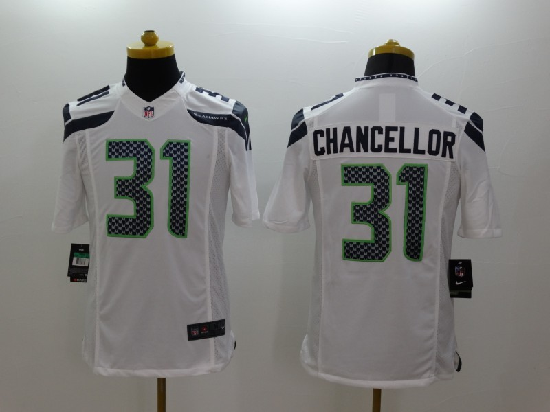 Seattle Seahawks 31 Kam Chancellor White 2014 Nike Limited Jerseys