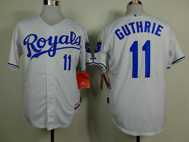 MLB Kansas City Royals 11 Guthrie White 2014 Jerseys