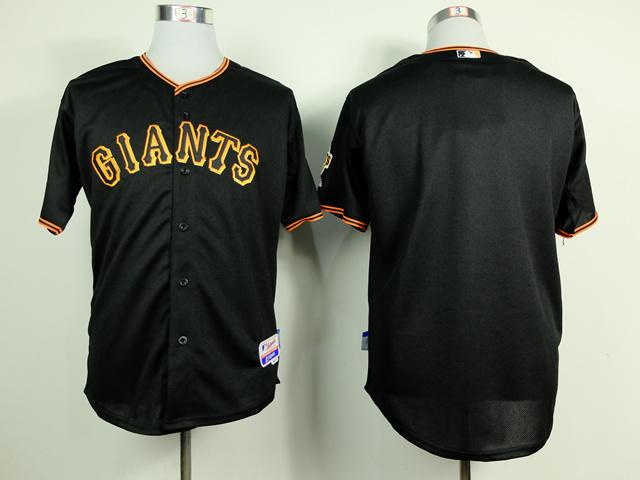 MLB San Francisco Giants Blank Black 2014 Jerseys