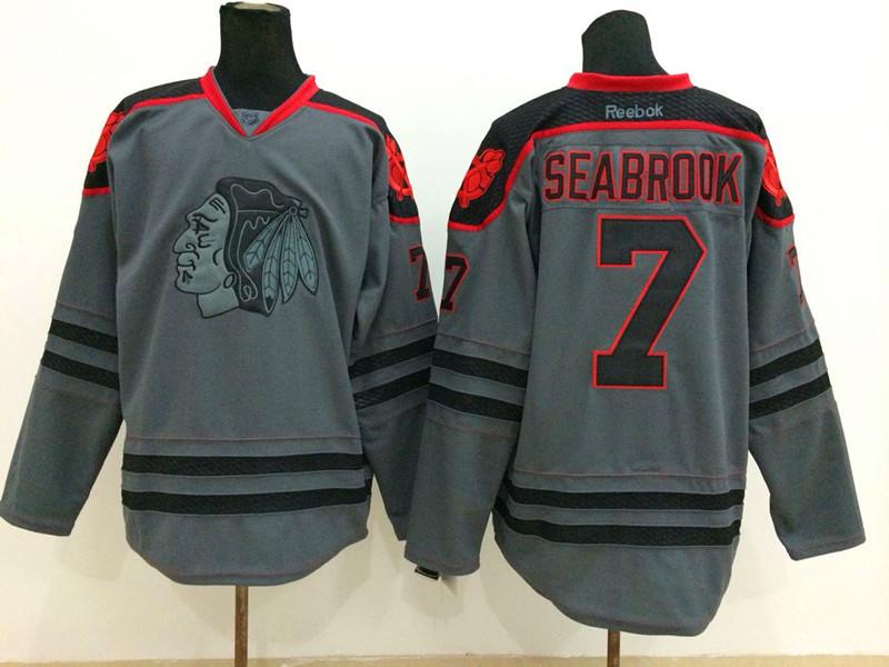NHL Chicago Blackhawks 7 Seabrook Charcoal Fashion 2014 Jersey