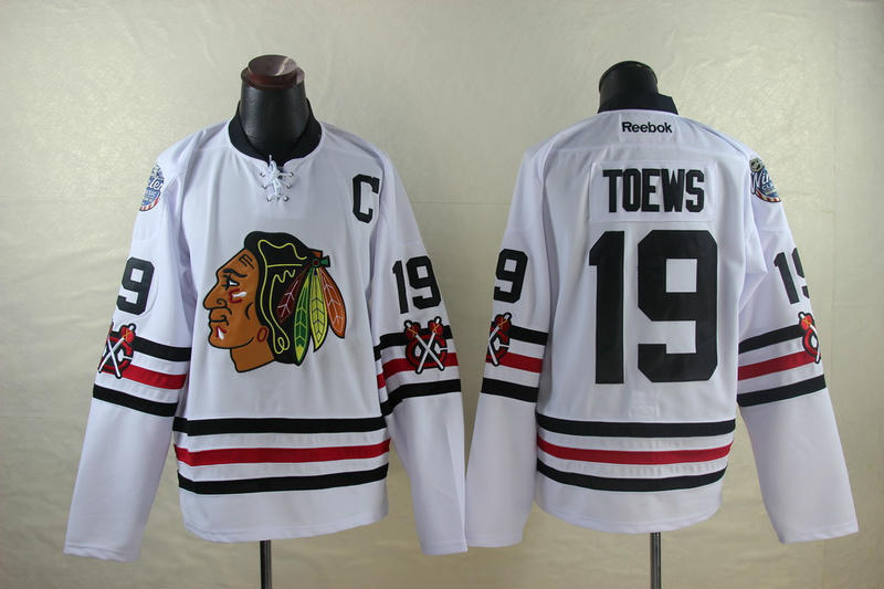 NHL Chicago Blackhawks 19 Jonathan Toews White 2014 Jerseys