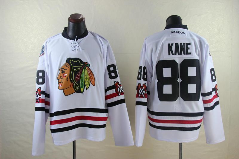 NHL Chicago Blackhawks 88 Patrick Kane White 2014 Jerseys