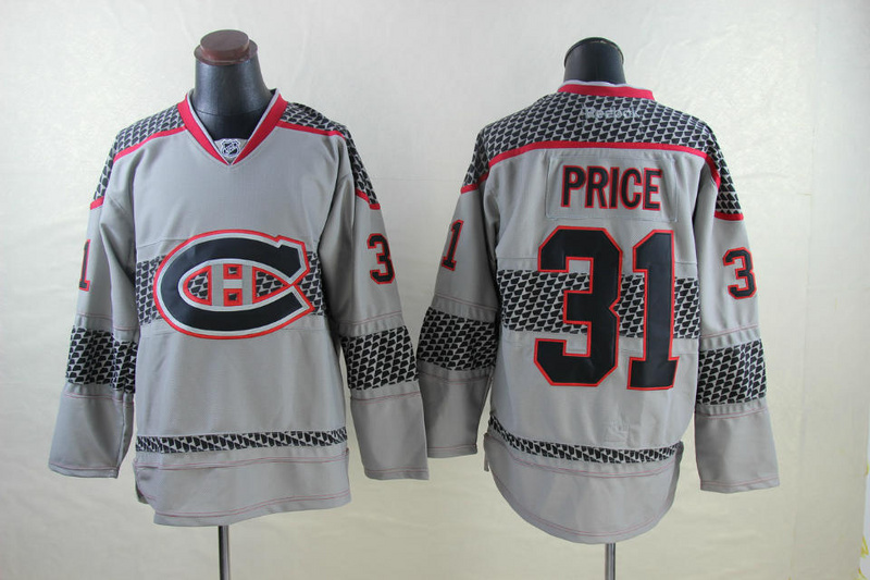 NHL Montreal Canadiens 31 Carey Price Gray 2014 Jerseys