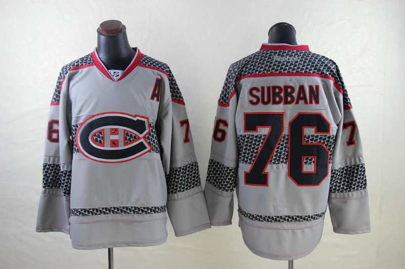 NHL Montreal Canadiens 76 P.K. Subban Gray 2014 Jerseys