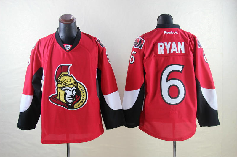 NHL Ottawa Senators 6 Bobby Ryan Red 2014 Jerseys