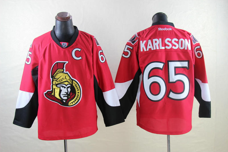NHL Ottawa Senators 65 Erik Karlsson red 2014 Jerseys