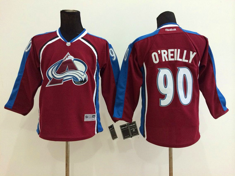 Youth NHL Colorado Avalanche 90 Ryan O'Reilly Red 2014 Jerseys
