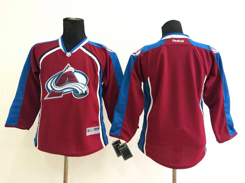 Youth NHL Colorado Avalanche Blank red 2014 Jerseys