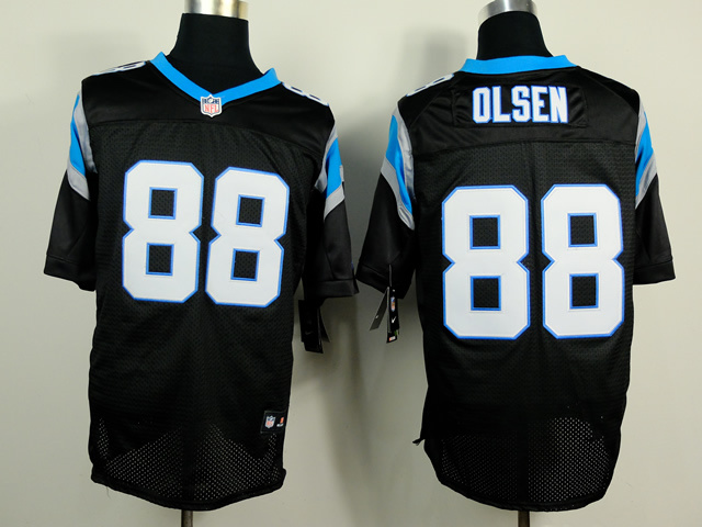Carolina Panthers 88 Olsen Black 2014 Nike Elite Jerseys