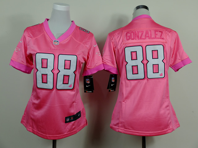 Womens Atlanta Falcons 88 Tony Gonzalez Pink 2014 Nike Love's Jerseys