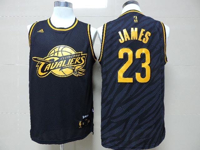NBA Cleveland Cavaliers 23 LeBron James Black Precious Metals Fashion Swingman