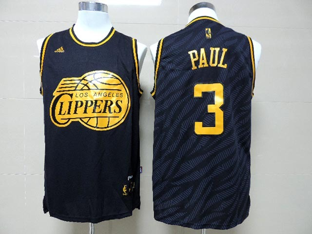 NBA Los Angeles Clippers 3 Chris Paul Black Precious Metals Fashion Swingman