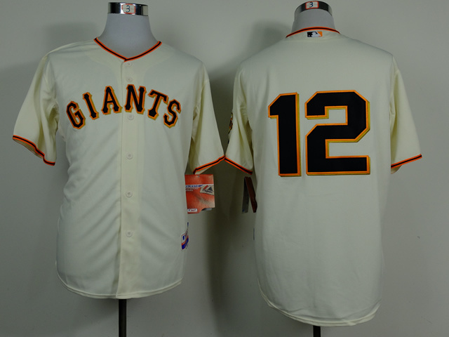 MLB San Francisco Giants 12 Joe Panik Cream 2014 Jerseys