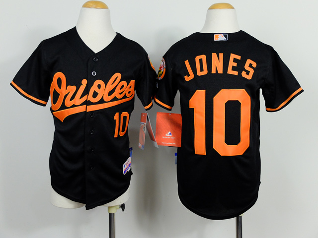 Youth Baltimore Orioles 10 Adam Jones Black 2014 Jerseys
