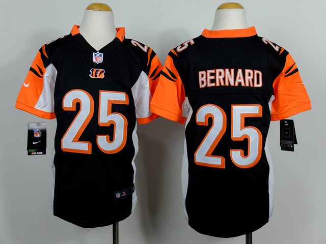 Youth Cincinnati Bengals 25 Bernard Black 2014 Nike Jerseys