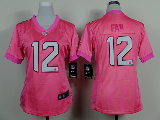 Womens Seattle Seahawks 12th Fan Pink 2014 Nike Love's Jerseys