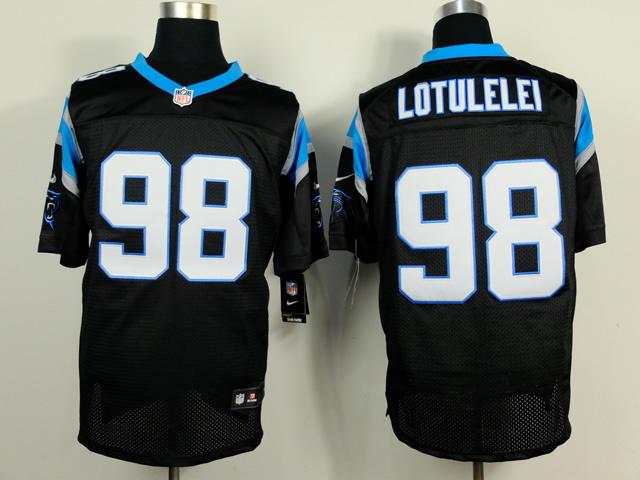 Carolina Panthers 98 Lotulelei Black 2014 Nike Elite Jerseys