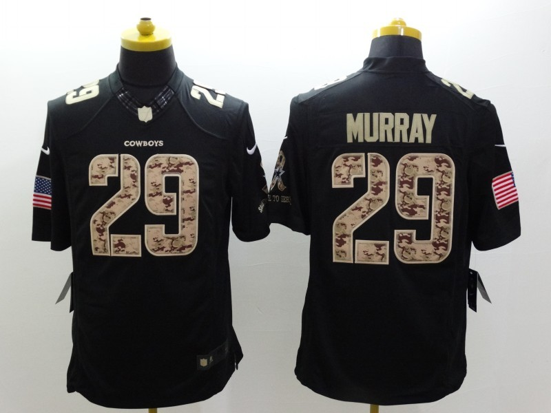 Dallas Cowboys 29 Murray Black 2014 Nike Salute TO Service Jersey