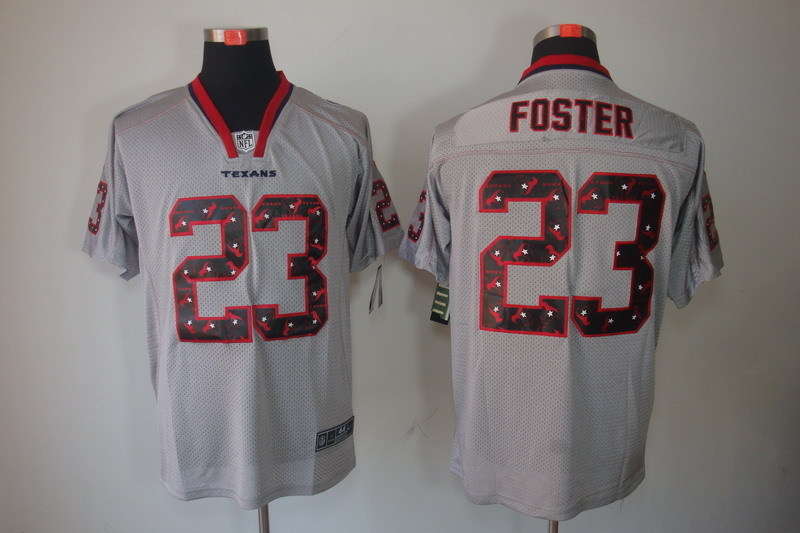 Houston Texans 23 Foster 2014 Nike Lights Out Grey Elite Jerseys