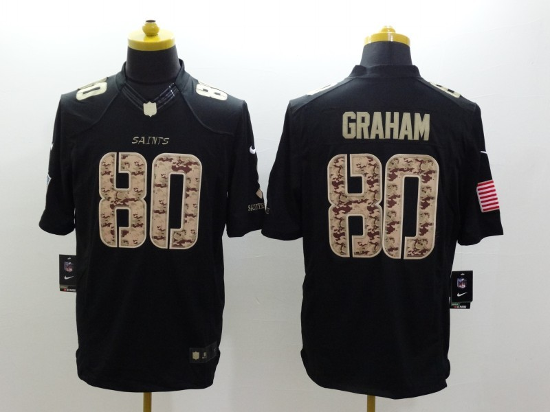 New Orleans Saints 80 Graham Black 2014 Nike Salute TO Service Jersey