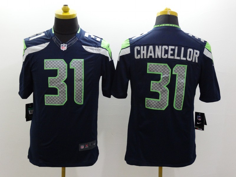 Seattle Seahawks 31 Kam Chancellor Blue 2014 Nike Limited Jerseys