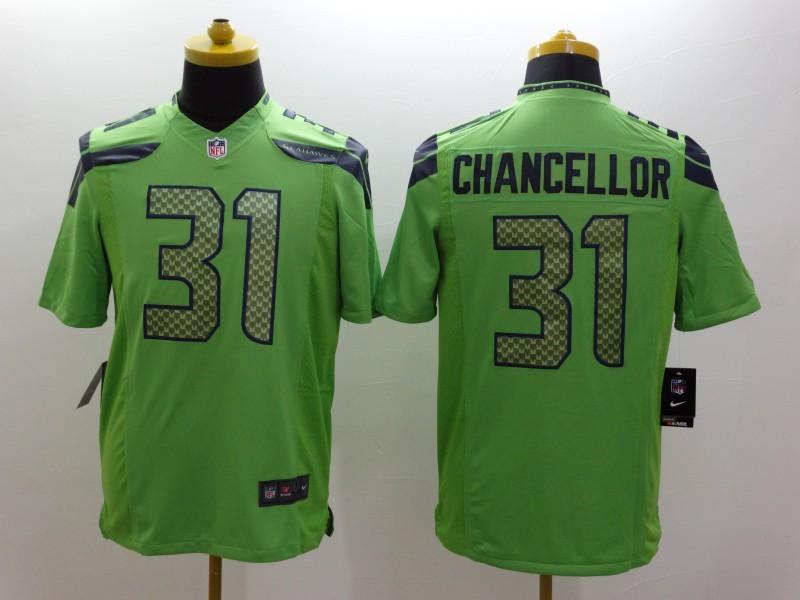 Seattle Seahawks 31 Kam Chancellor Green 2014 Nike Limited Jerseys