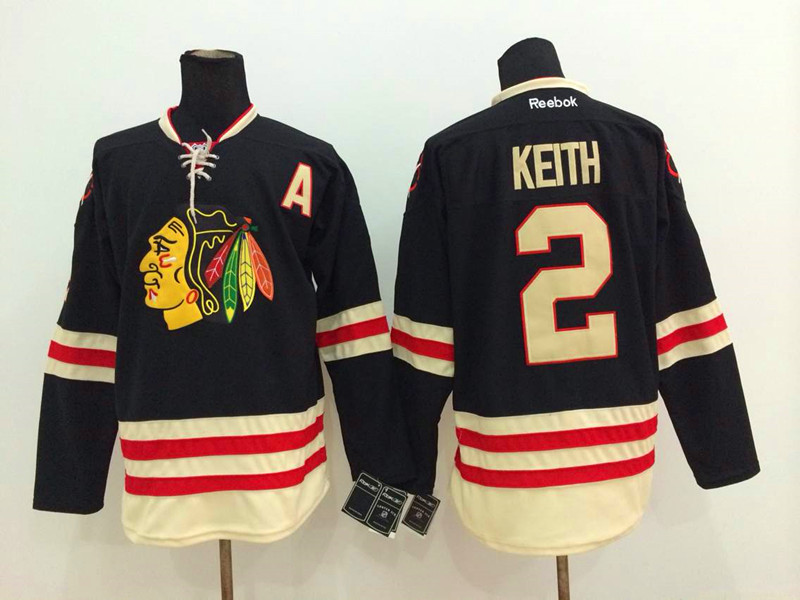 NHL Chicago Blackhawks 2 Duncan Keith Black 2014 Winter Classic Jerseys