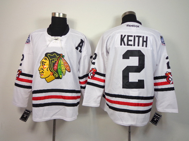 NHL Chicago Blackhawks 2 Duncan Keith White 2014 Winter Classic Jerseys
