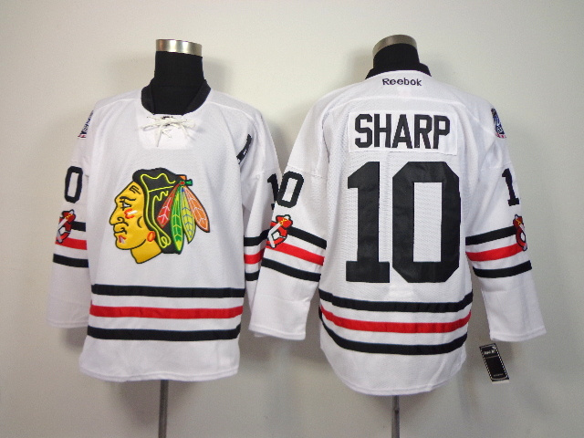 NHL Chicago Blackhawks 10 Patrick Sharp White 2014 Winter Classic Jerseys