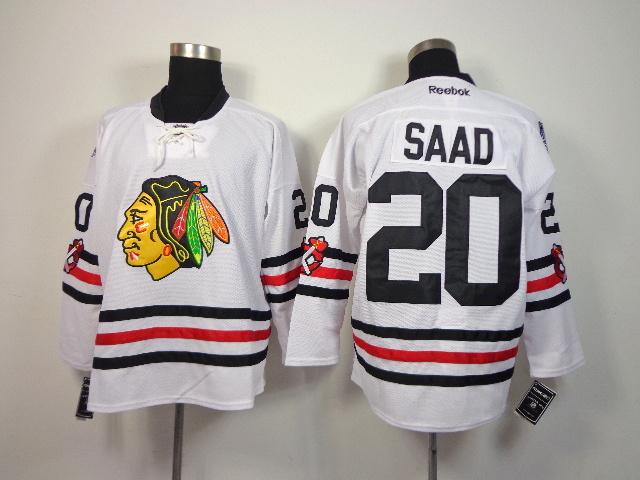 NHL Chicago Blackhawks 20 Brandon Saad White 2014 Winter Classic Jerseys
