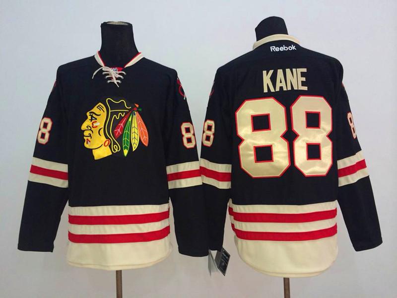 NHL Chicago Blackhawks 88 Kane Black 2014 Winter Classic Jerseys